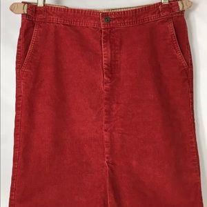 Lucky Brand Sally Skirt Corduroy Straight Size 6
